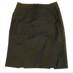 GAP Stretch Cotton Pencil Career Skirt Black 4
